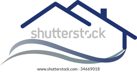 logo house - stock vector