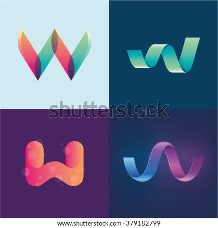 Logo idea letters j k l stock vector 385205980 shutterstock for W and p design