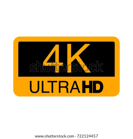 logo 4k ultra hd vector illustration stock vector