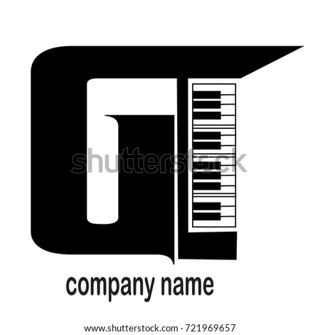 logo letter alphabet g piano stock vector royalty free 721969657