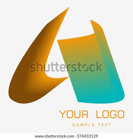logo, lighting - stock vector
