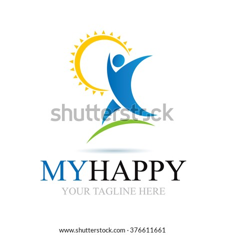 Logo My Happy Icon Element Template Design Logos - stock vector