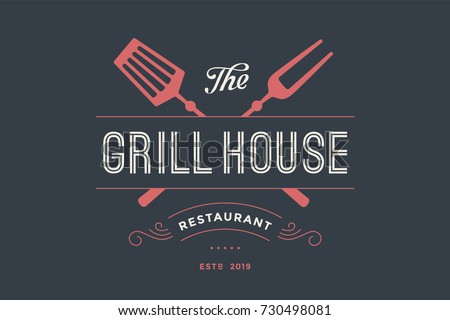 Grilling stock vectors images vector art shutterstock - The grill house restaurant ...