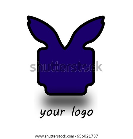 Logo Purple Bunny Monster Stock Vector 656021737 Shutterstock