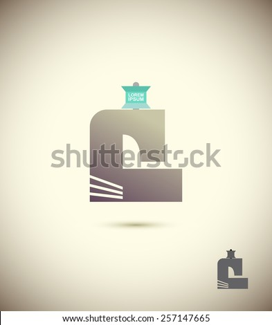 Logo of the sewing machine. The concept for the sewing workshop, fashion, Couture. Vector - stock vector