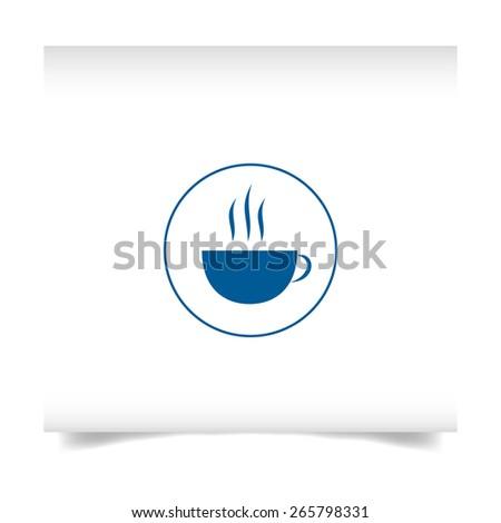 logo on a white sheet. Coffee cup vector logo. - stock vector