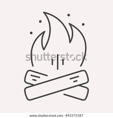 Logo Or Label Campfire Line Style Logotype Template Easy To Use Business