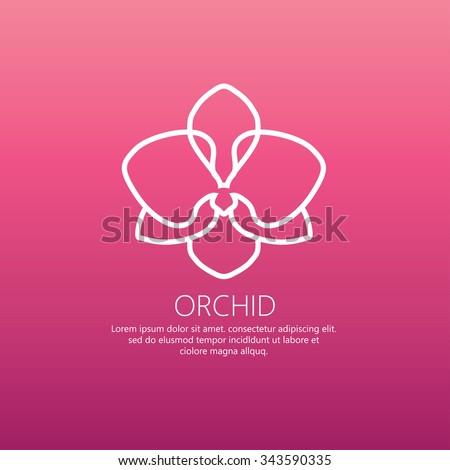 Logo Orchid Design vector