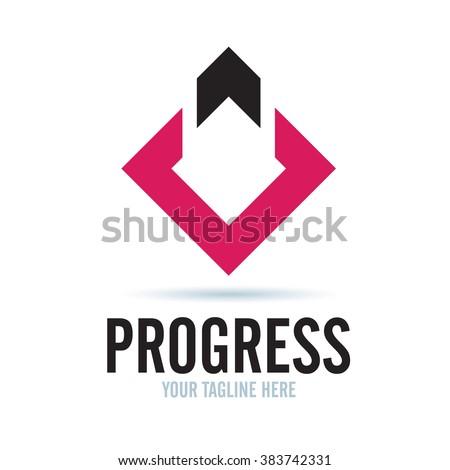 Logo Progress Icon Element Template Design Logos - stock vector