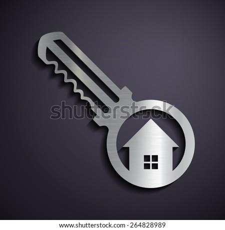 Logo real estate. Vector image. - stock vector