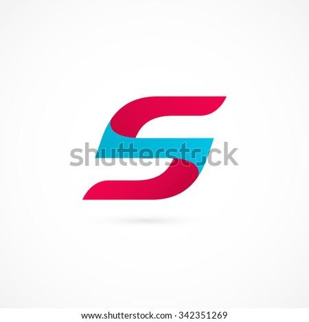 Logo S letter. Isolated on white background. Vector illustration, eps 10. - stock vector