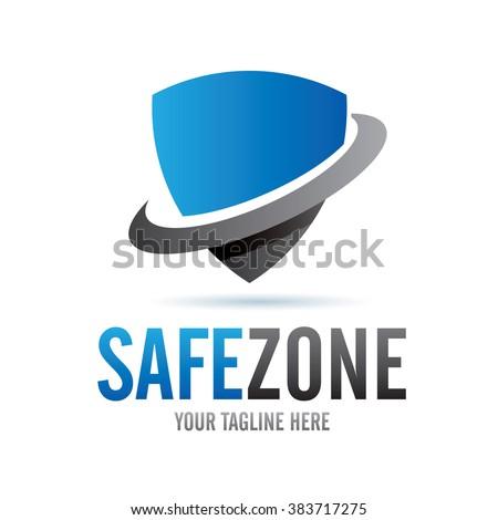 Logo Safe Zone Icon Element Template Design Logos - stock vector