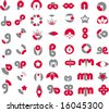 logo set 3 - stock vector