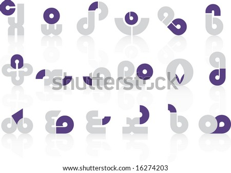 logo set 9 - stock vector