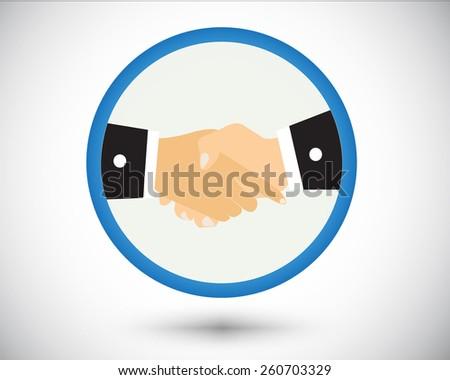 Logo shake hand business vector. - stock vector