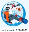 Logo snowboarding - extreme sports. Winter vector Illustration. - stock photo