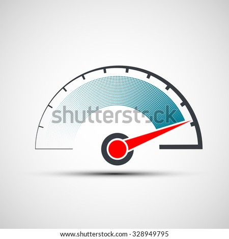 Logo speedometer. Flat design. Stock vector illustration. - stock vector