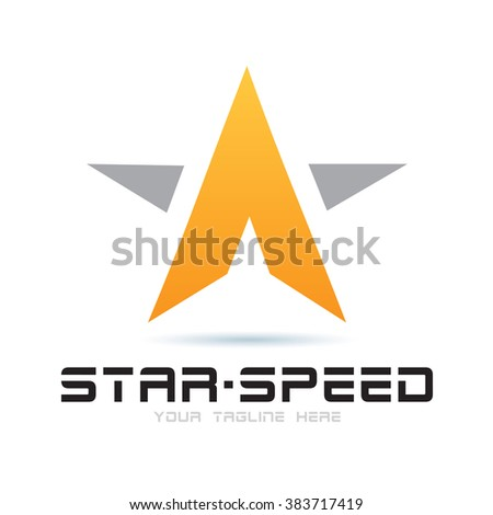 Logo Star Speed Icon Element Template Design Logos - stock vector