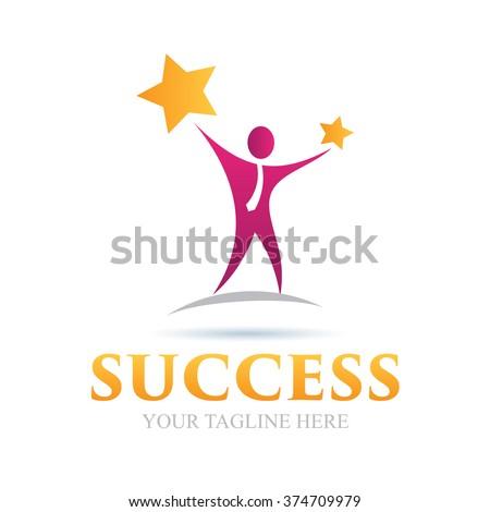 Logo Success Icon Element Template Design Logos - stock vector