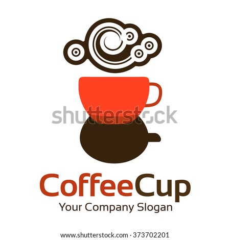 Logo template. Abstract coffee business corporate identity symbol. Company graphic concept - stock vector