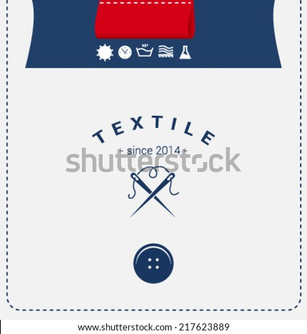 Logo template. Corporate icon for logotype. Vector. Textile. - stock vector