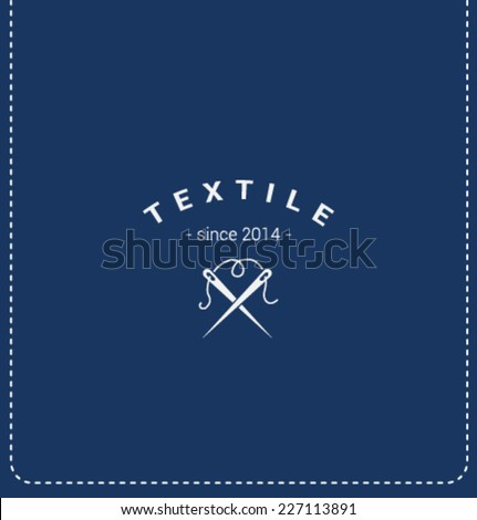 Logo template. Corporate icon for logotype. Vector. Textile manufacture. - stock vector