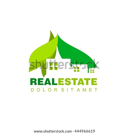 Logo template real estate, Clean, modern and elegant style design