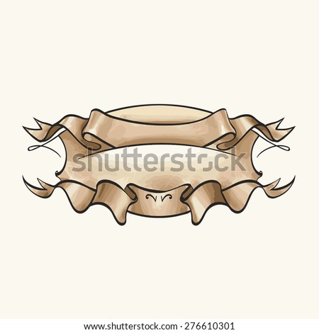 logo template vector with space for text - stock vector