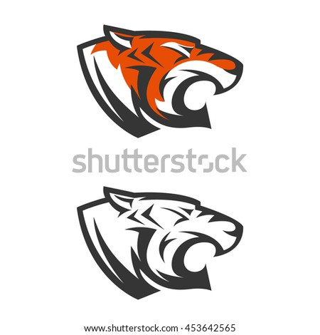 Tiger head logo design - photo#20
