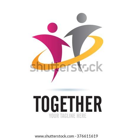 Logo Together Icon Element Template Design Logos - stock vector