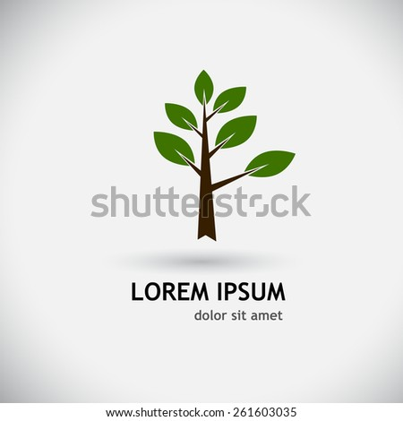 logo tree. Vector - stock vector
