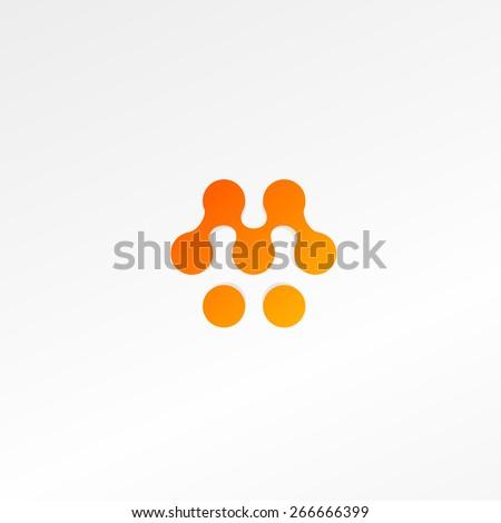 Logo. Vector. Biology. Letter M.  - stock vector