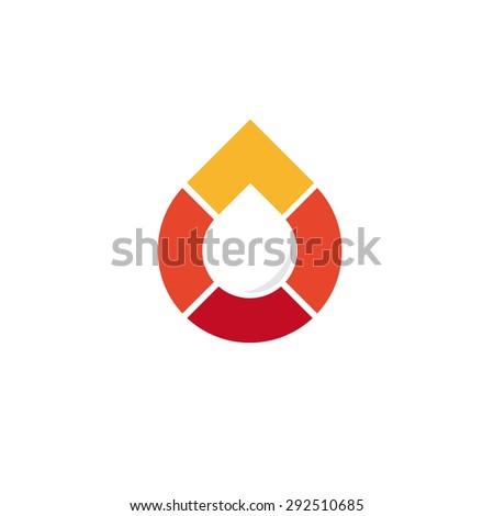 Logo. Vector. Droplet - stock vector