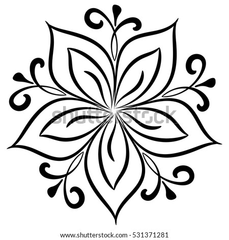 logo vector floral pattern mandala decor your stock vector 531371281 rh shutterstock com vector flower pattern vector floral pattern black and white