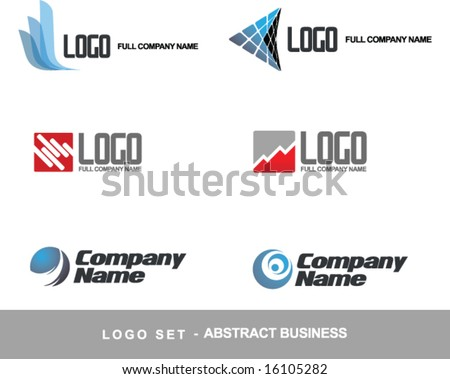 Logo vector set business abstract concept (others elements and logo  in my portfolio) - stock vector