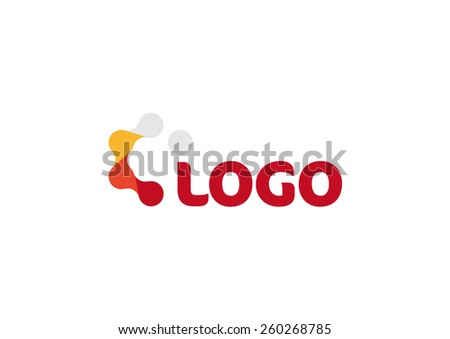 Logo vector virus. Chemistry business company. Abstract molecular and atom isolated logotype. - stock vector