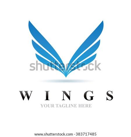 Logo Wings Icon Element Template Design Logos - stock vector