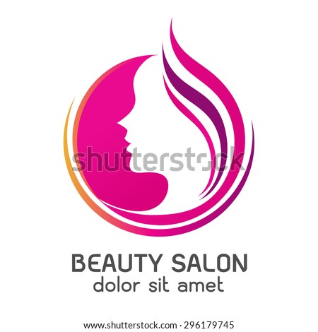 Logo woman silhouette, head, face logo isolated. Use for beauty salon, spa, cosmetics design, etc - stock vector