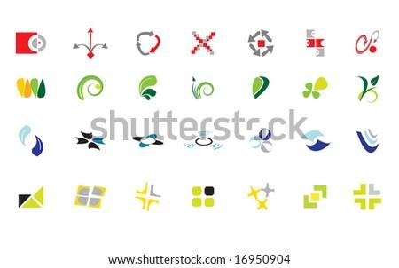logos - stock vector