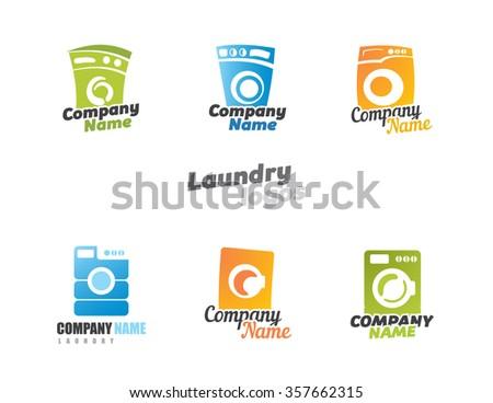 Logos Laundry - stock vector