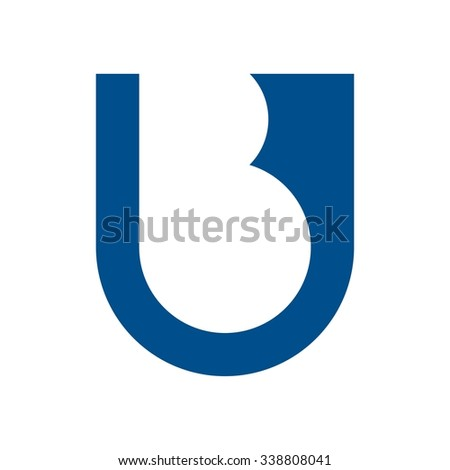 logotype and lettermark of letter u and b. - stock vector
