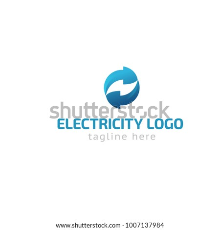 Logotype Electricity, Logo Vector For Shop, Store, Energy, Light, Repair