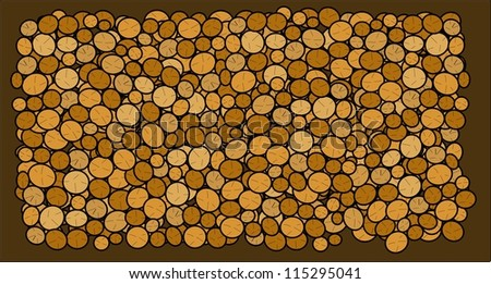 Logs background - stock vector