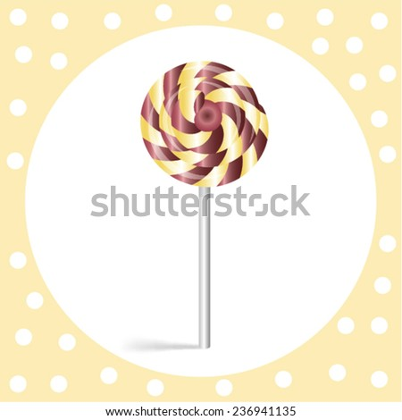 lollipop on a white background in retro style - stock vector