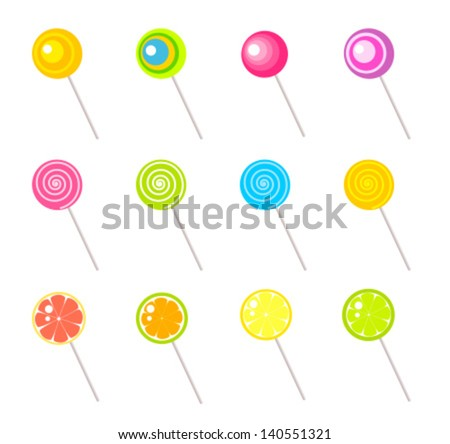 Lollipops collection. Vector illustration - stock vector