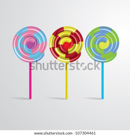 Lollipops Vector Illustration - stock vector