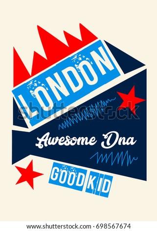 London awesome dnat shirt print poster vector illustration