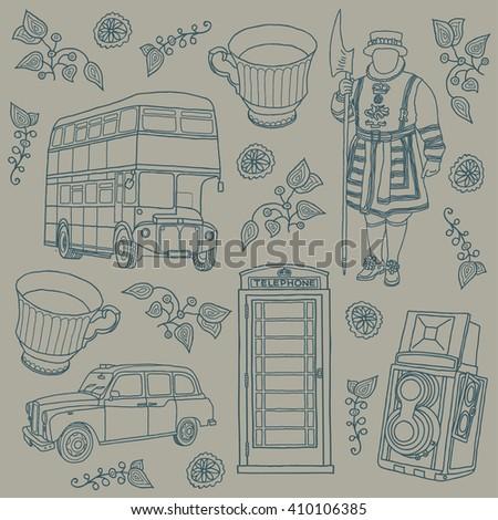 london. background  - stock vector
