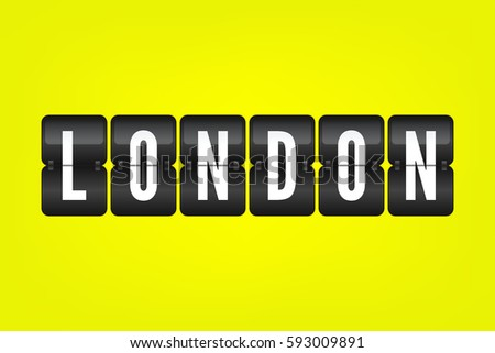 London British City Travel Flip Symbol Stock Vector Royalty Free