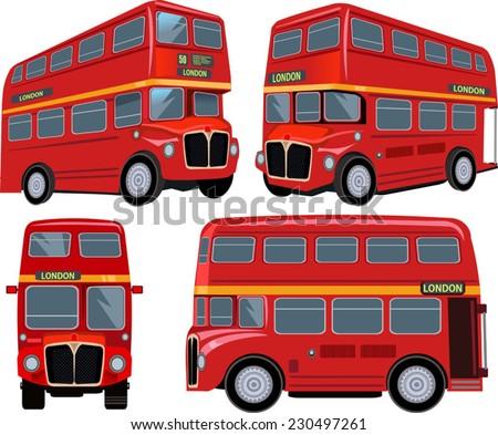 London Bus - stock vector